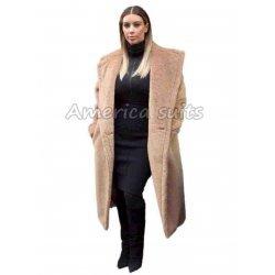 Kim Kardasian Long brown Coat