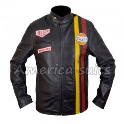 Le Mans Steve McQueen Grand Prix Leather Jacket