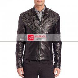 Men Black Lambskin Leather Jacket