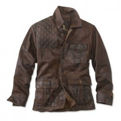 Men Brown Waxed High Class Leather Jacket