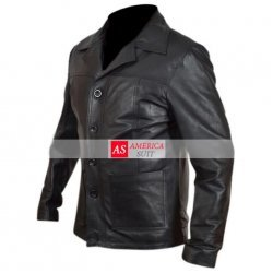 Mens Killing Them Softly Brad Pitt Leather Jacket