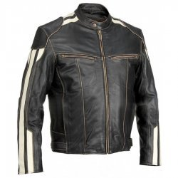 Mens River Road Vintage Biker Jacket