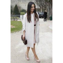 Mila Kunis White Long Coat