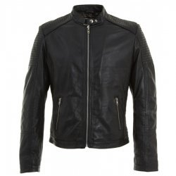 Quilted Biker Jacket For Mens