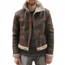 Resident Evil Leon Kennedy Fur Leather Jacket