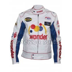Ricky Bobby Wonder Bread Biker Leather Jacket