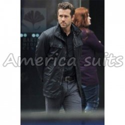 Ryan Reynolds Nick Walker Replica R.I.P.D leather jacket For Men