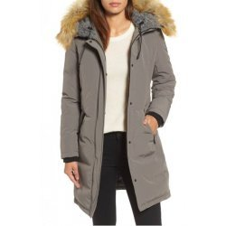 Women Faux Shearling Satin Coat