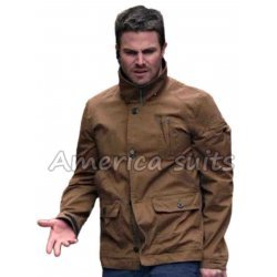 Stephan Ammel Brown Oliver Queen Jacket