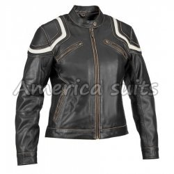 Slimfit Black Biker Leather Jacket