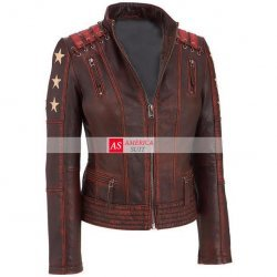 Women Celebrity Jacket With Rivets