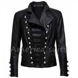 Women Military Style Black Jacket
