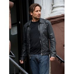 X-Flies David Duchovny American Apperal Men's Leather Jacket