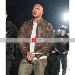 Dwayne Johnson Rampage Distressed Leather Jacket