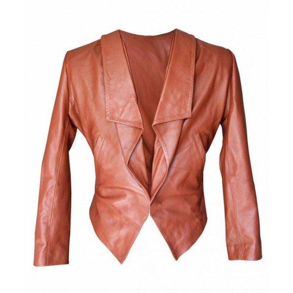 2 broke girls leather jacket