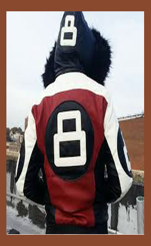 8 Ball Red Leather Jacket