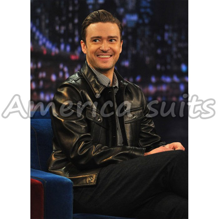 Justin Timberlake Hot Celebrity Leather Jacket For Men