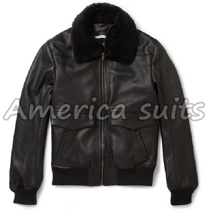 mens-aviator-black-bomber-jacket