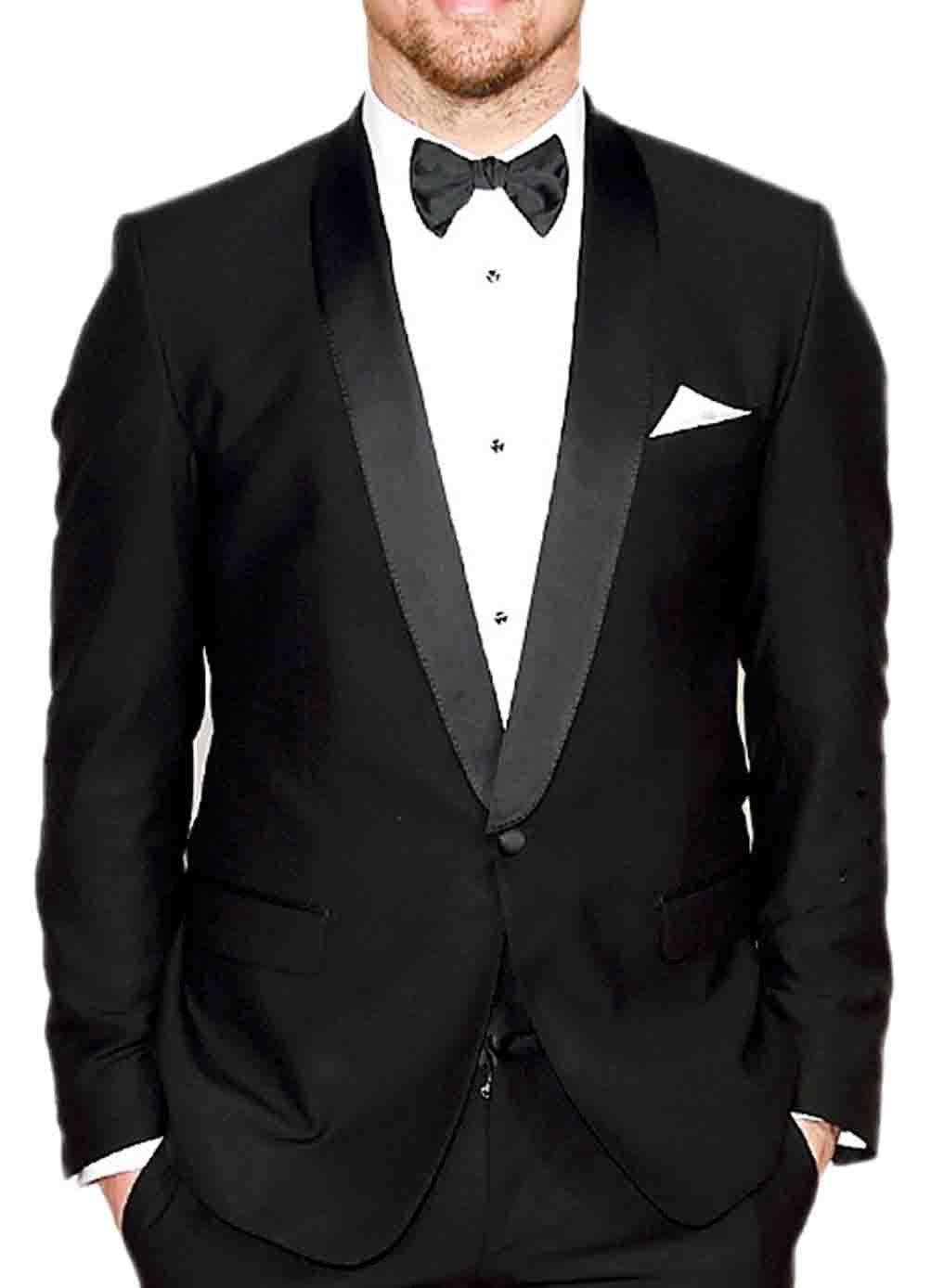 Channing Tatum Oscar Black Shawl Tuxedo