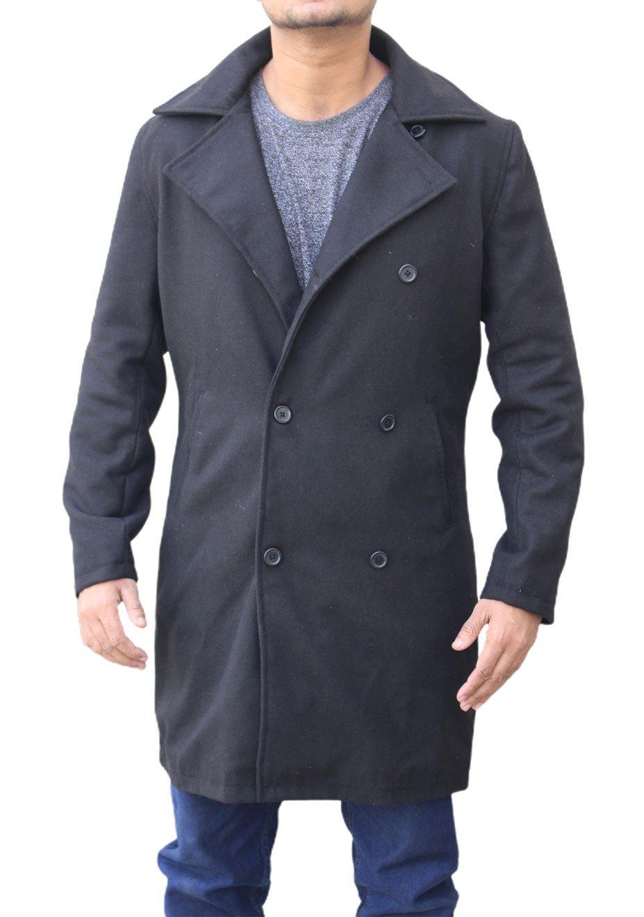 Ian-Bohen-Yellowstone-Ryan-Wool-Pea-Coat