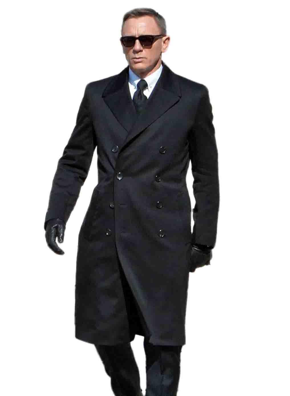 James Bond Spectre Navy Blue Greatcoat