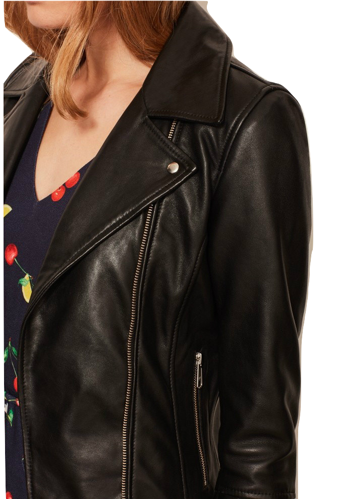 Red Sparrow Jennifer Lawrence Black Leather Jacket