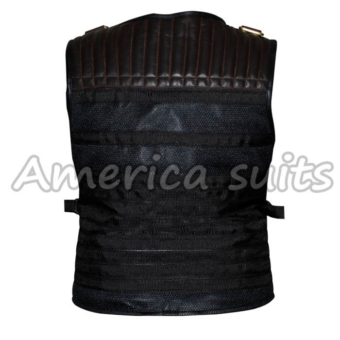 New Sylvester Stallone Expendables 3 Black Leather Vest