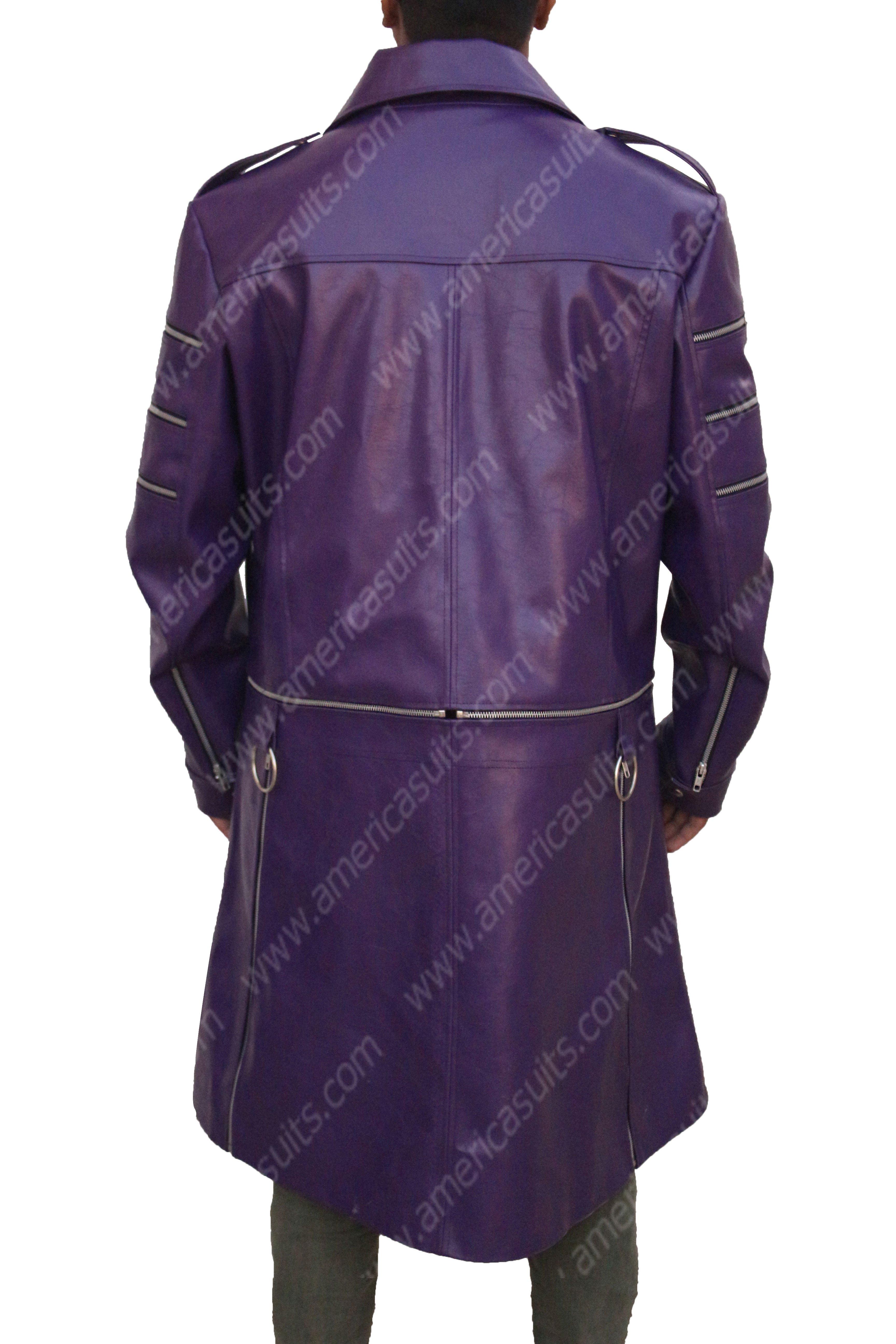 Adam Lambert Purple Coat
