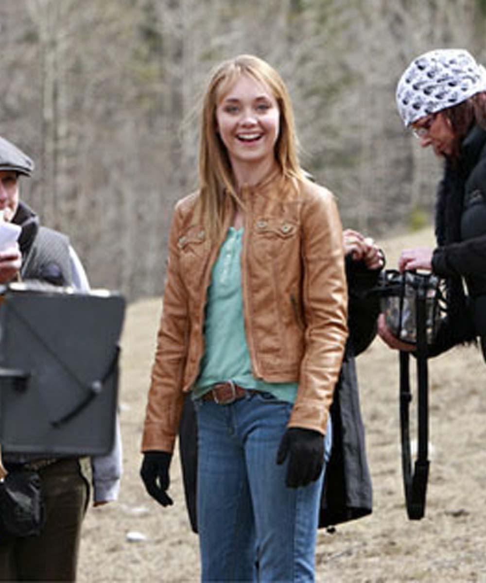 Amy-Fleming-Heartland-Leather-Jacket