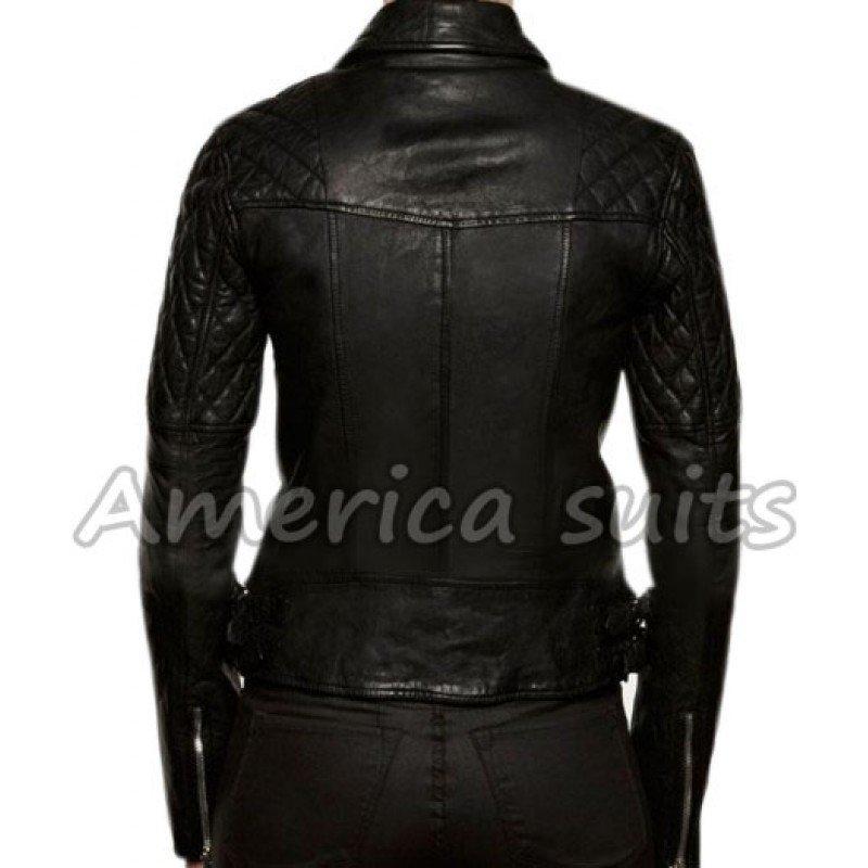 new ashley greene black leather jacket