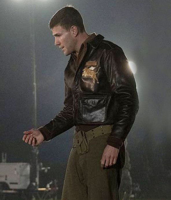 Amazing-Stories-Austin-Stowell-Brown-Leather-Jacket