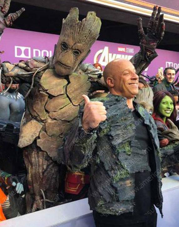 Avengers Endgame Vin Diesel Im Groot Premiere Jacket