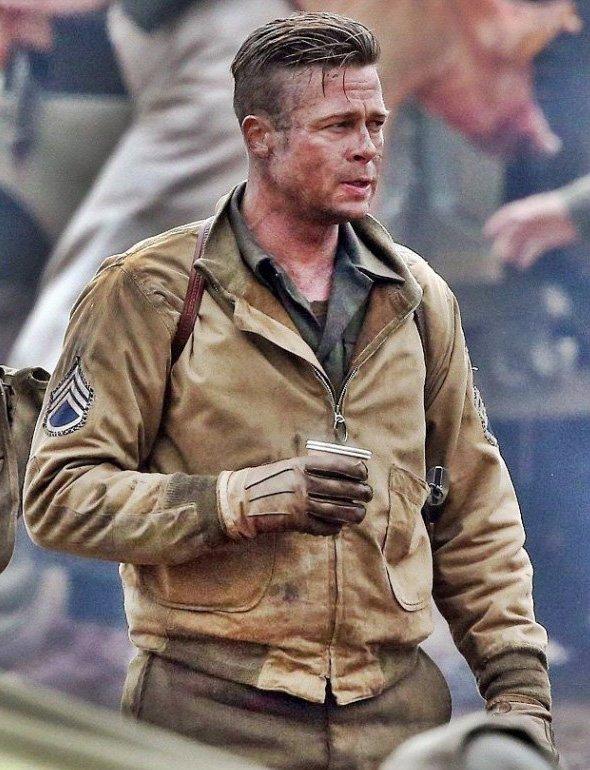 Fury-Brad-Pitt-Wardaddy-Tanker-Brown-Bomber-Jacket
