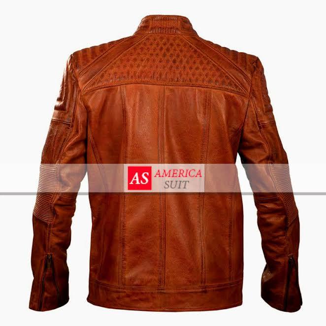 new brown cafe racer jacket
