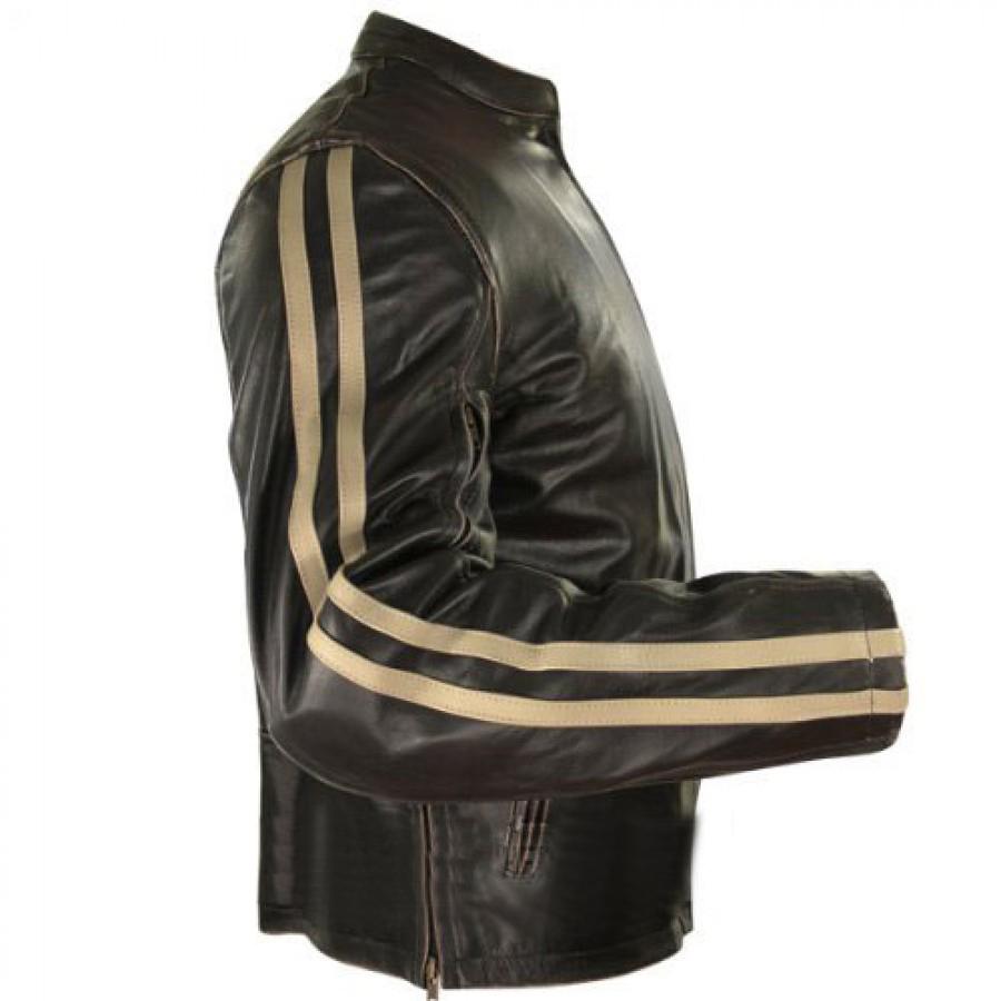Mens Racer Leather Jacket