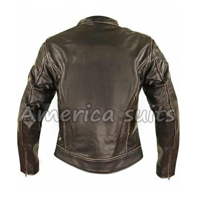 cafe racer women leather jacket
