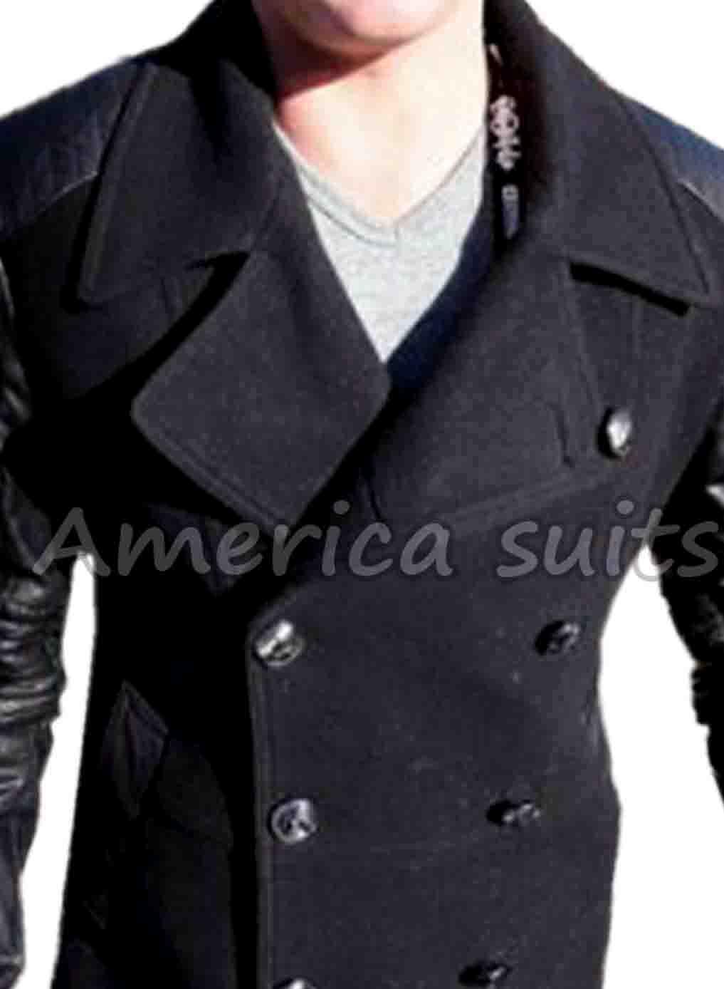 camp x ray lane garrison black leather jacket