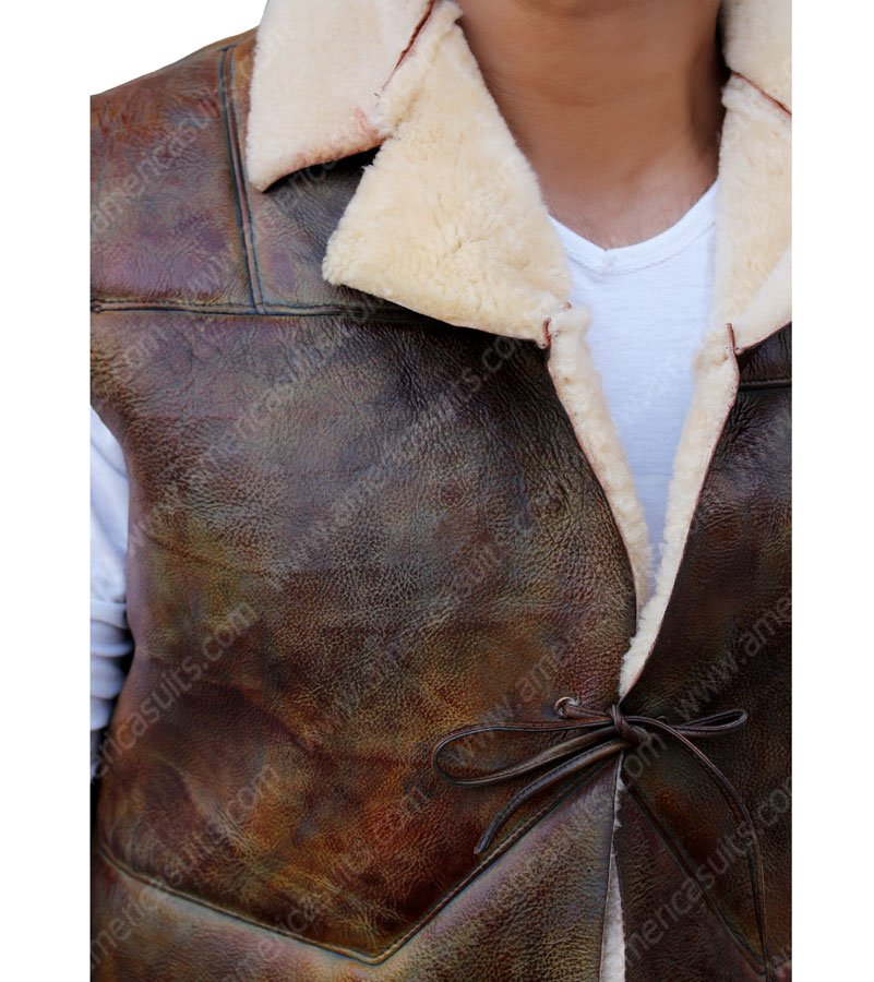 The Man With No Name Clint Eastwood Nubik Leather Jacket