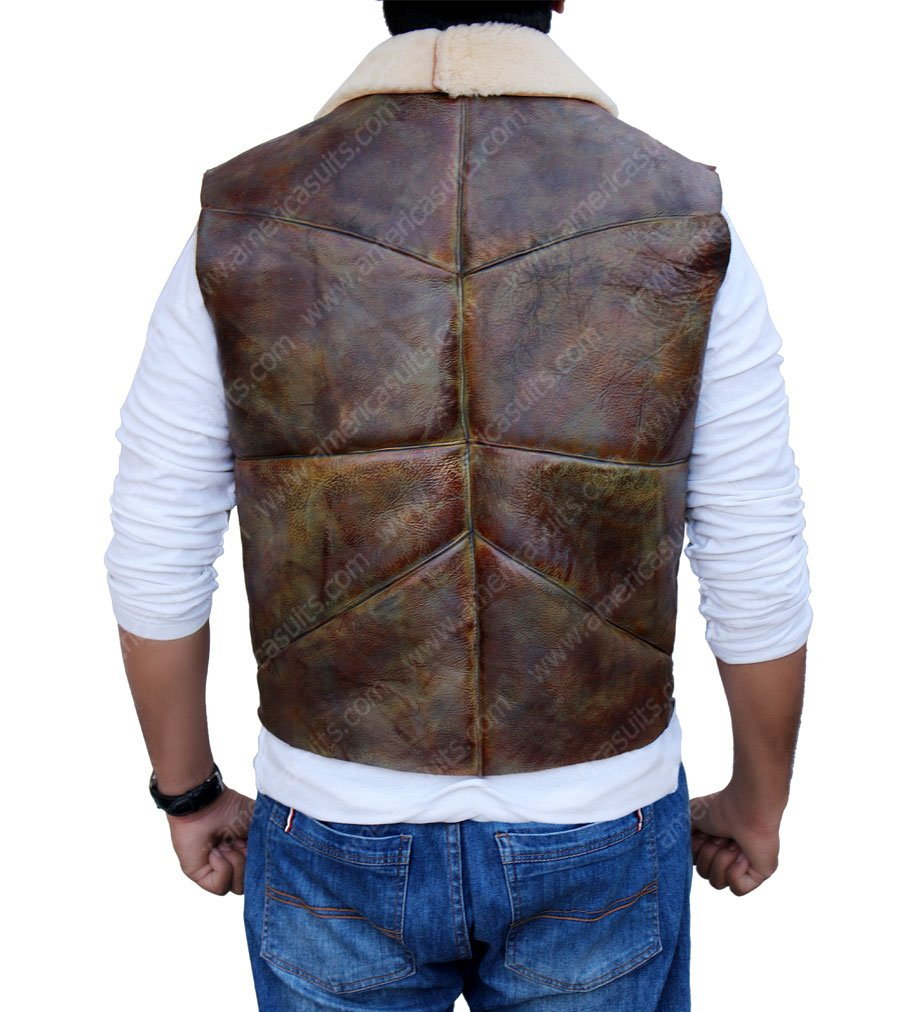 Man With No Name Clint Eastwood Leather Vest