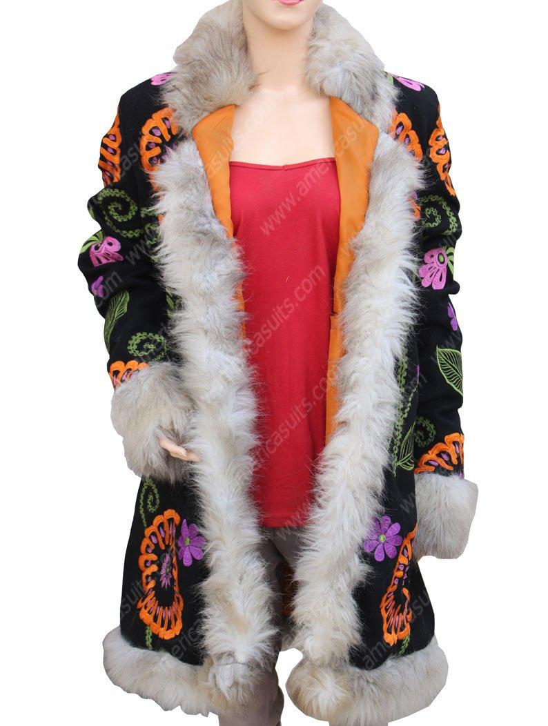 Carly Chaikin Mr Robot Fur Long Coat