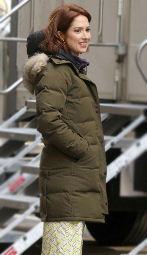 The-Stand-In--Ellie-Kemper-Puffer-Coat