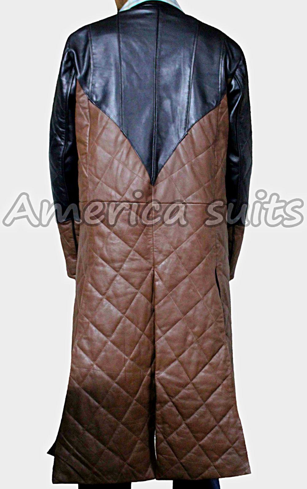 Claudia Black Leather Coat