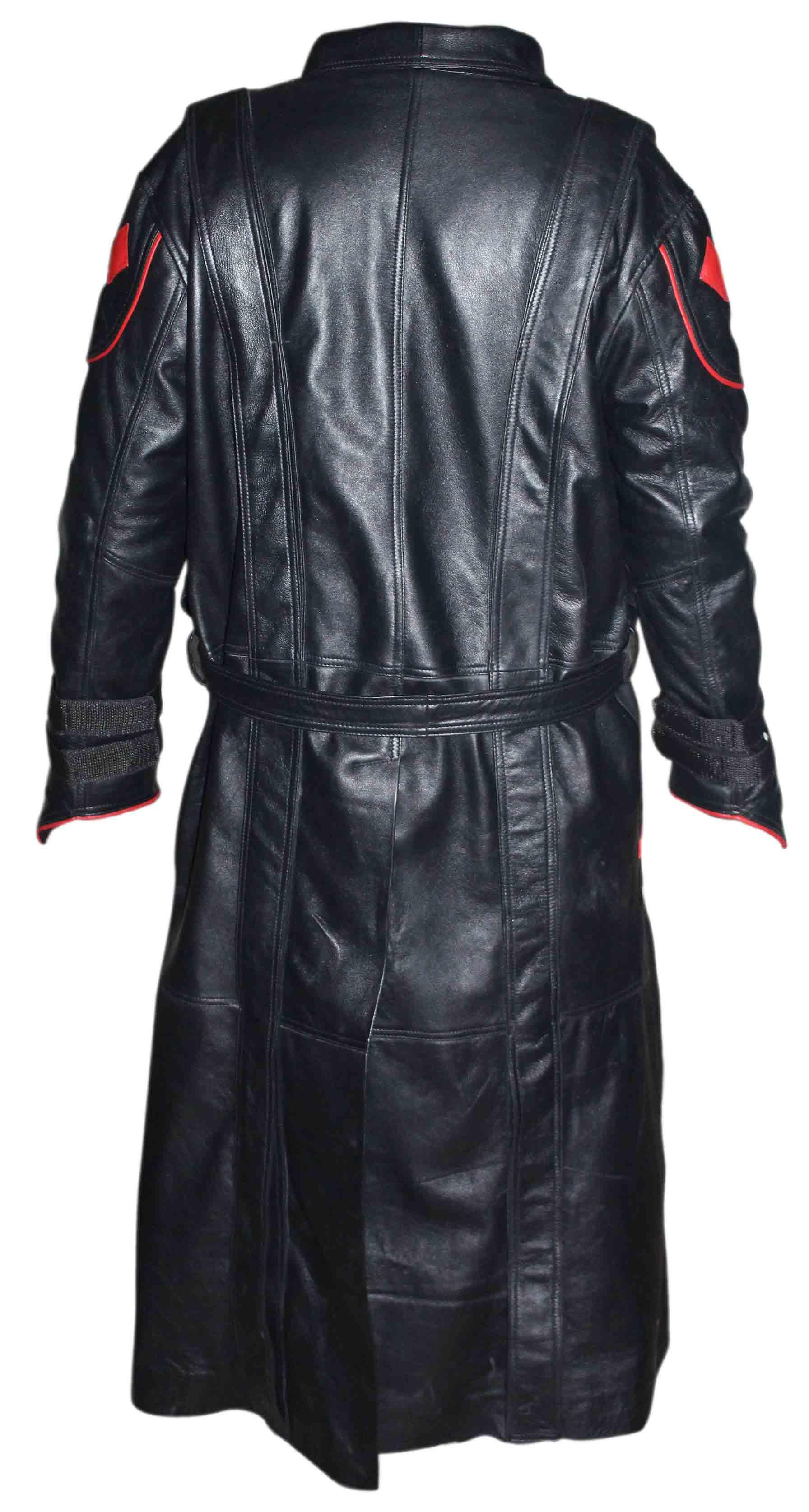 First Avenger Red Skull Leather Coat