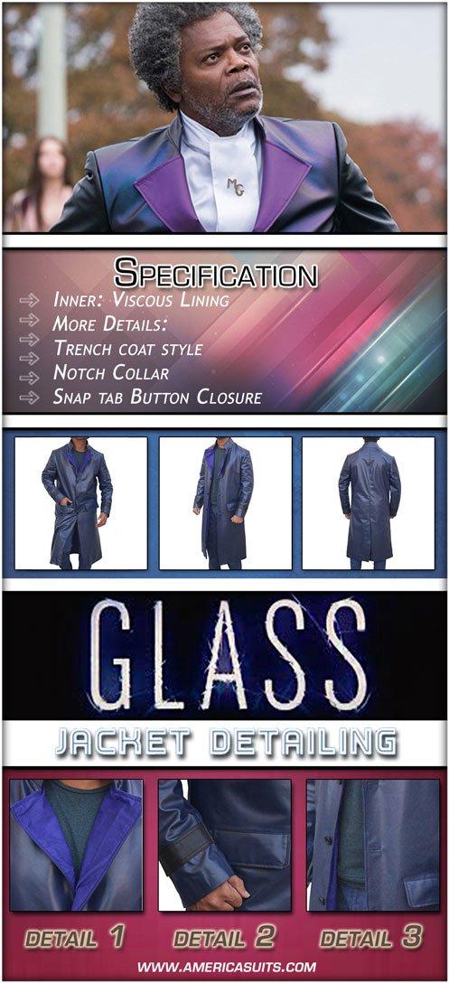 Glass Samuel Jackson Trench Coat