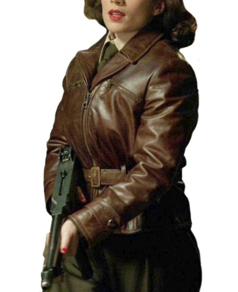 captain-america-hayley-atwell-brwon-leather-jacket
