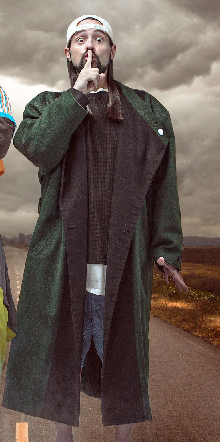 Jay and Silent Bob Green Wool Coat