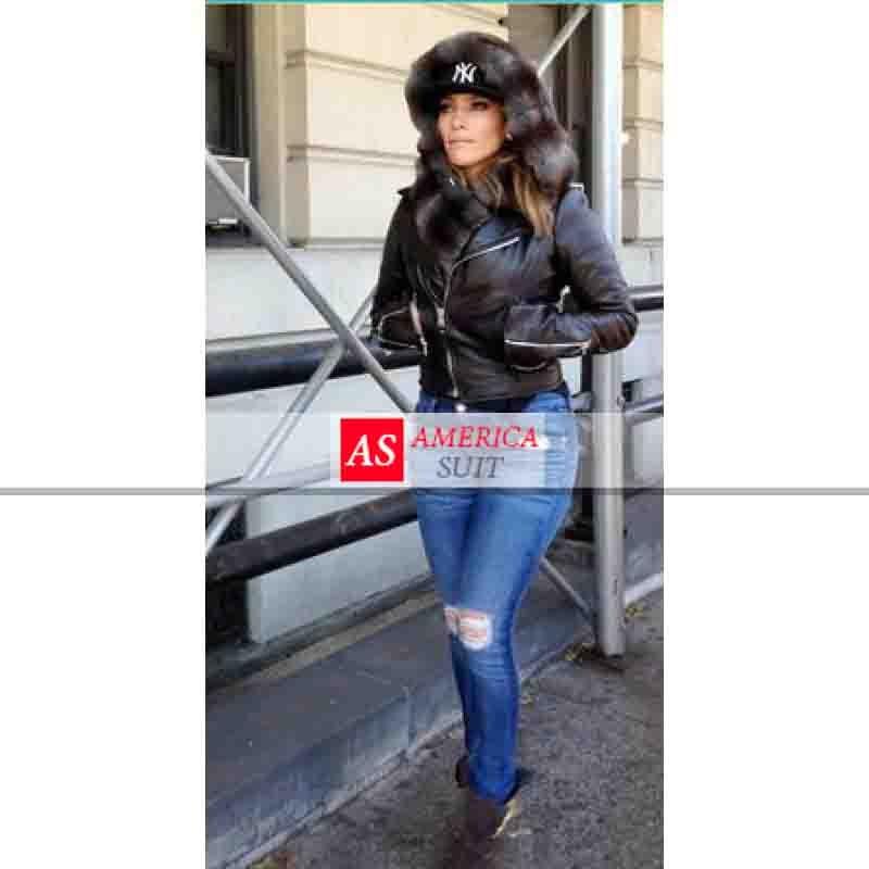 Jennifer Lopez Black Leather Jacket