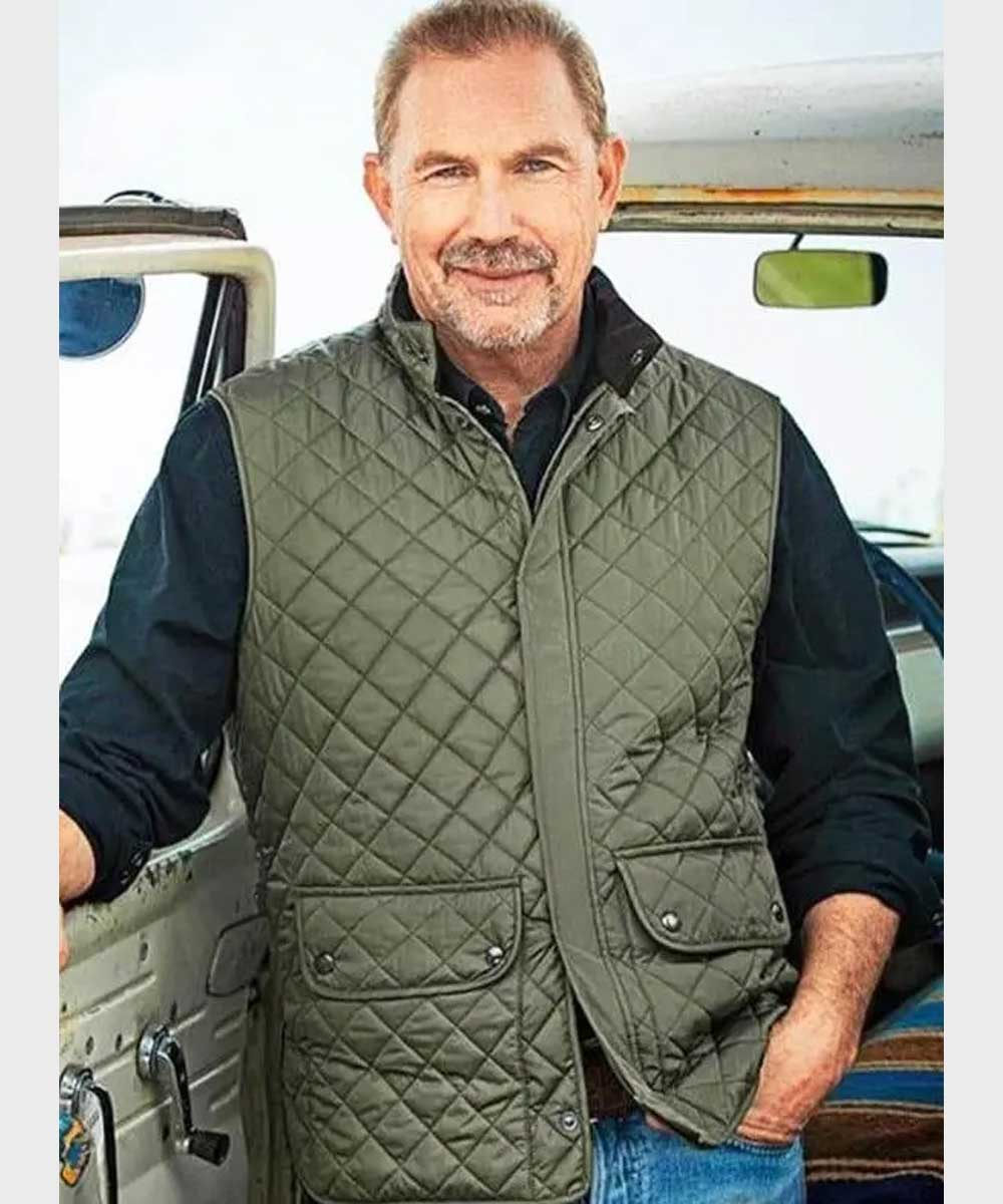 Yellowstone-John-Dutton-Green-Quilted-Vest