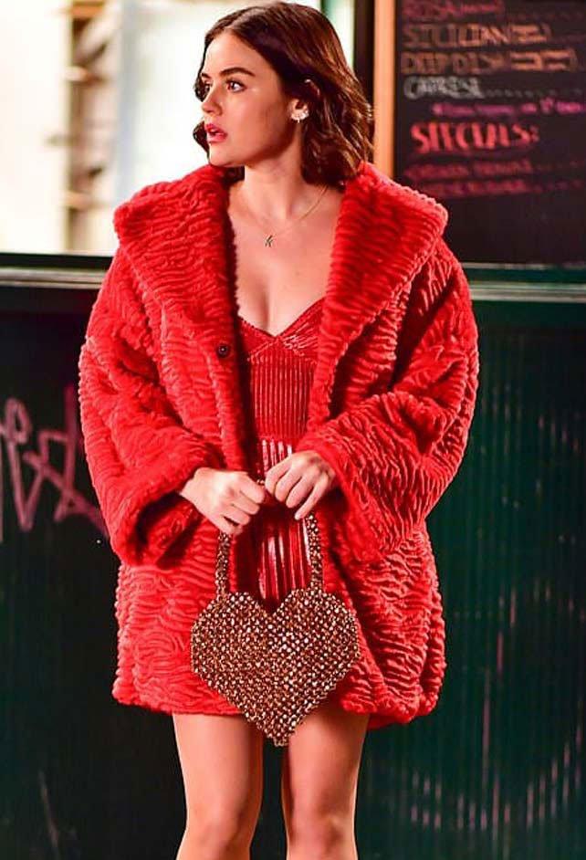 Katy-Keene-Lucy-Hale-Faux-Fur-Coat