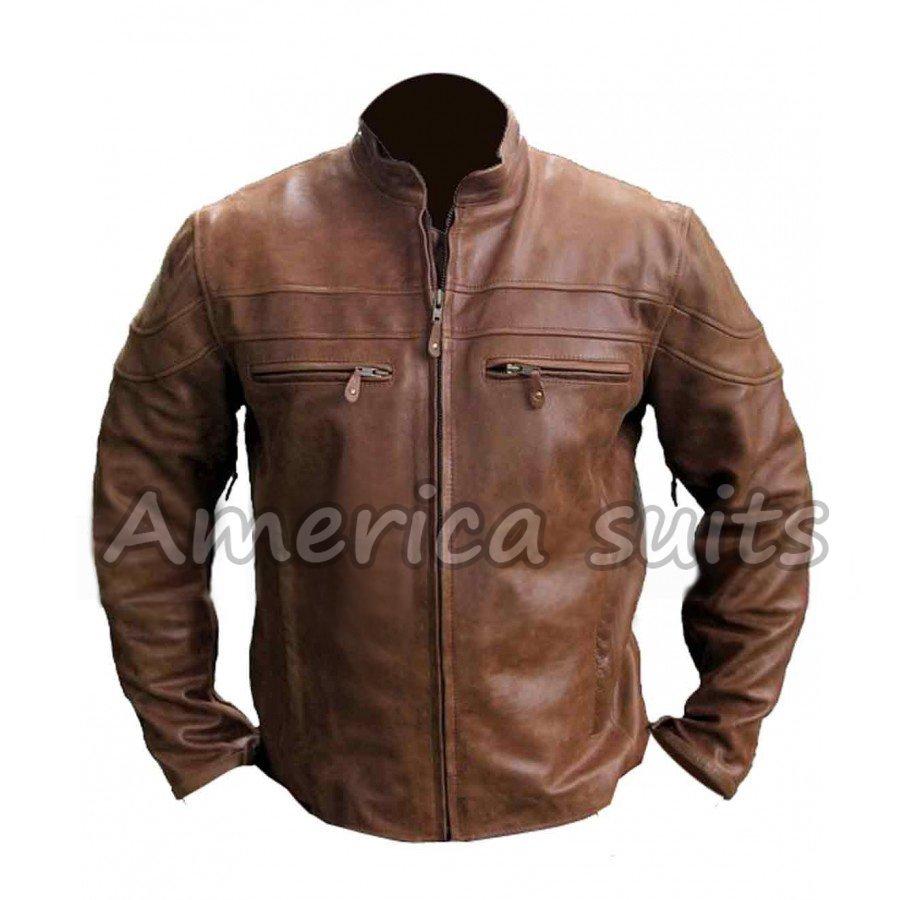 mens-vintage-biker-brown-leather-jacket